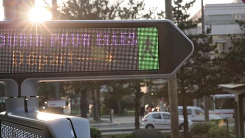 Panneau d'affichage LED interactif pour ville - diffusion de messages