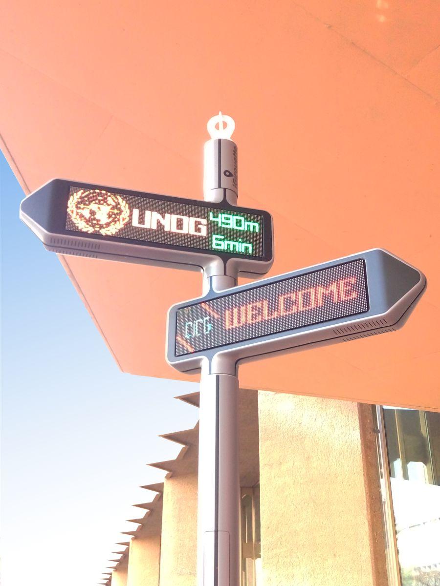 <strong>iGirouette®</strong> dans le quartier des Nations Unies à Genève